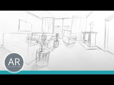Perspektivisches Zeichnen Perspektive Zeichnen Lernen Räume