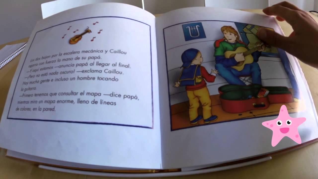 Cuentos infantiles Caillou en el metro - YouTube