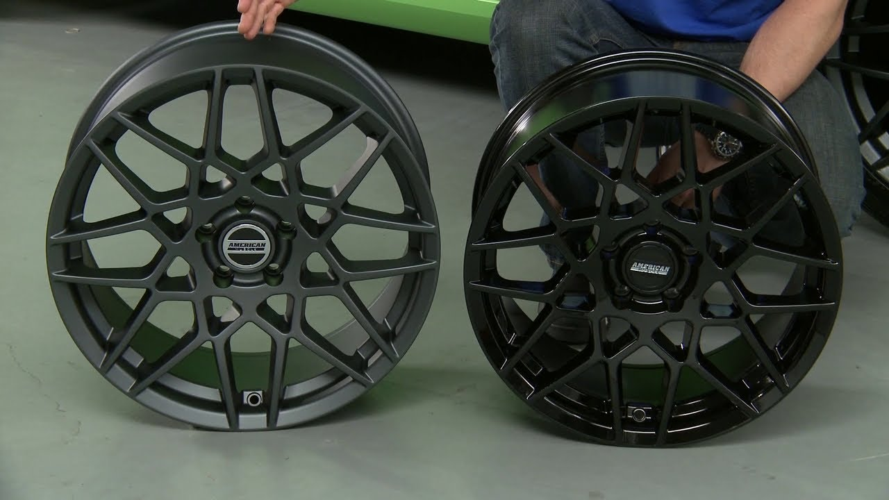 Mustang 2013 Style GT500 Wheels Charcoal and Gloss Black