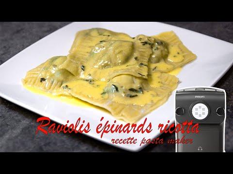 recette-raviolis-aux-épinards-et-à-la-ricotta-(philips-pasta-maker)