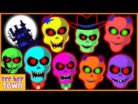 Skeleton Finger Family Rhymes   Funny Colors Skeleton Rhymes   Skeletons Scary Songs by Teehee Town