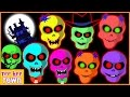 Skeleton Finger Family Rhymes | Funny Dancing Skeletons and More by Teehee Town