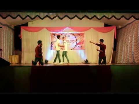 College boys dance with punch dialogues