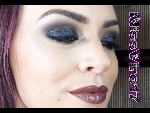 maquillage de gothique halloween smokey eyes noir youtube. Black Bedroom Furniture Sets. Home Design Ideas