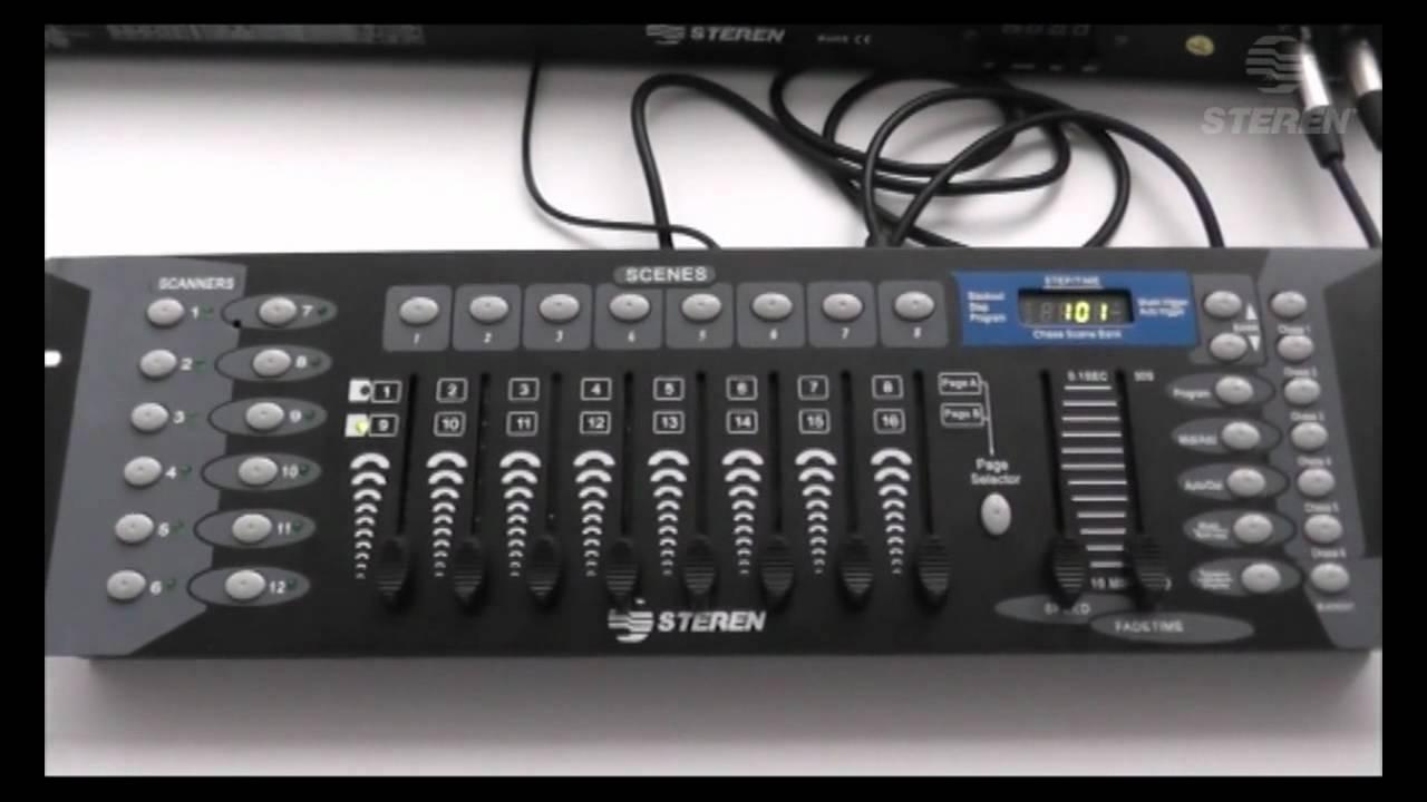 Video Tutorial de cmo configurar un DMX con lmparas de