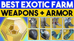 Destiny 2 - BEST EXOTIC FARMS - High Stat Armor + Exotic Weapons