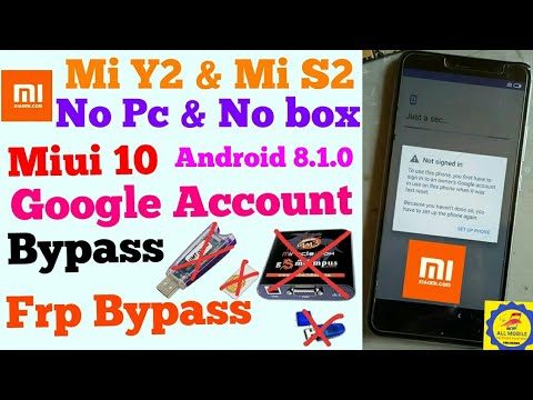 Mi redmi y2 frp unlock bypass Mi y2 Frp Bypass Google account unlock