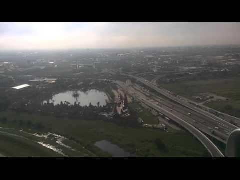 LIVE FROM JETSTAR PACIFIC JET - Landing in Bangkok Thailand