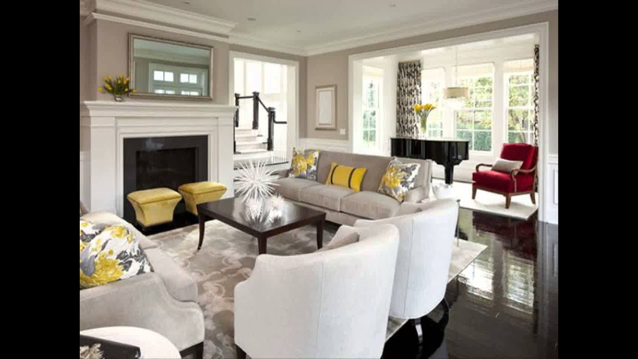 Living room with tv above fireplace decorating ideas youtube - Living room tv ideas ...