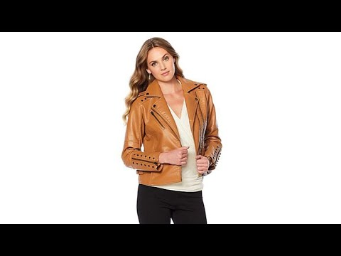 Colleen Lopez Effortlessly Edgy Faux Leather Jacket. http://bit.ly/327kbRO