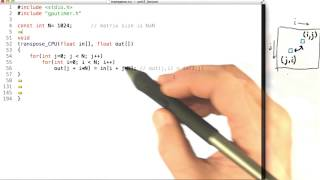 Transpose Code Example Part1 - Intro to Parallel Programming