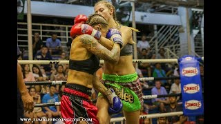 LOW KICK FRENZY!! Jenny Redford Sumalee fights at Bangla Boxing Stadium: 11th October 2017