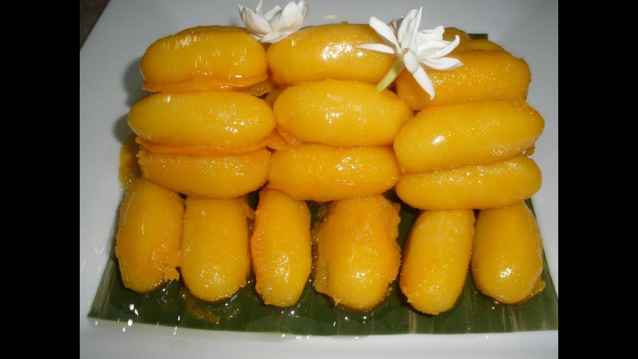 Jackfruit Seed Dessert (Noum Croup Khnow) - YouTube