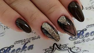 дизайн ногтей для начинающих мастеров  Очень простой и быстрый дизайн ногтей. омбре на ногтях.