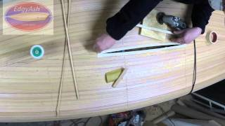Edgyash™ Diy Paddle Board Kit Build (5) – Hull Final Strip – Close Up.