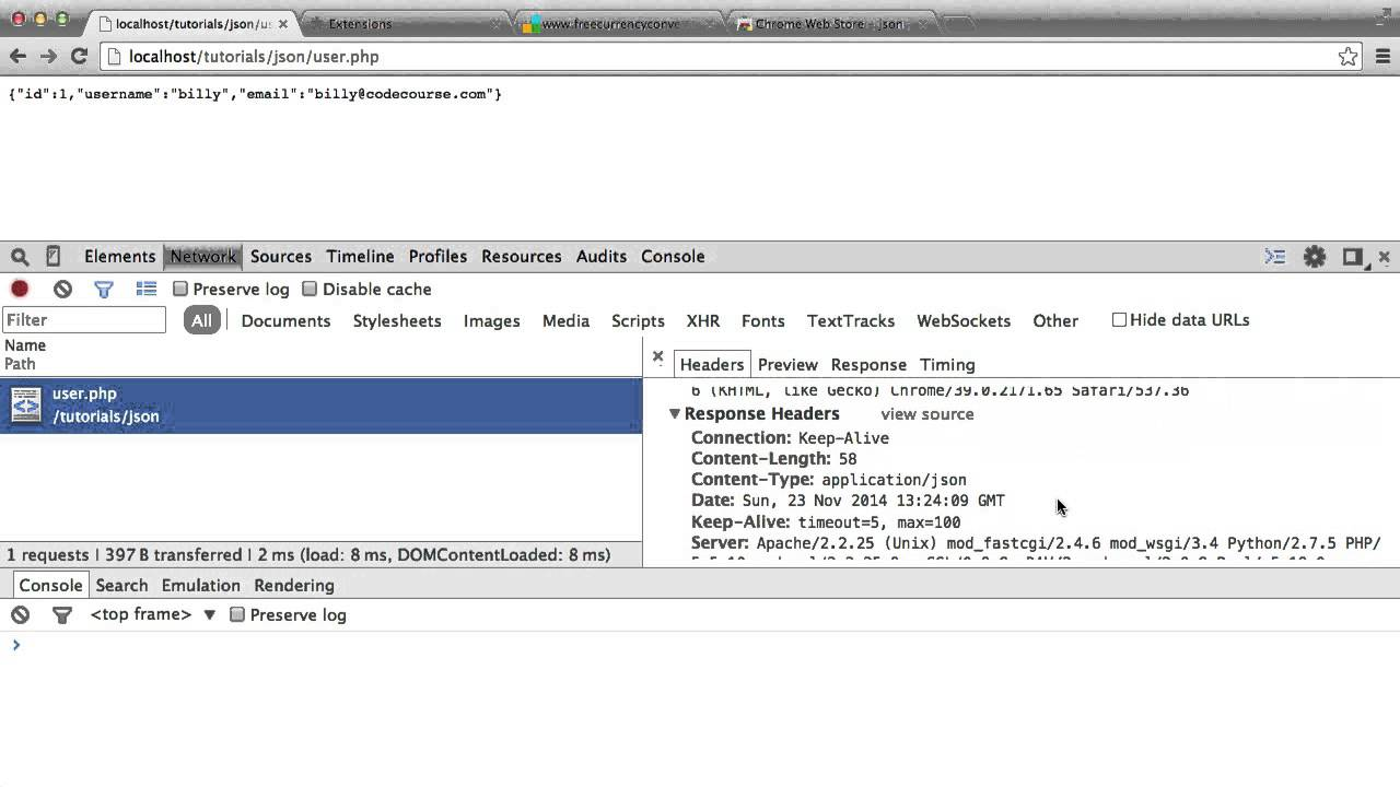 Tip: Rendering JSON In Your Browser!