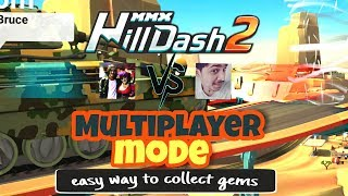 MMX HILL DASH 2 - ⚡ MULTIPLAYER MODE ⚡ | Easiest Way To Collect 💎Gems💎 | Hutch Games | Remo Singh