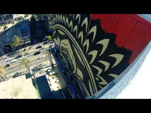The Line Mural by Shepard Fairey