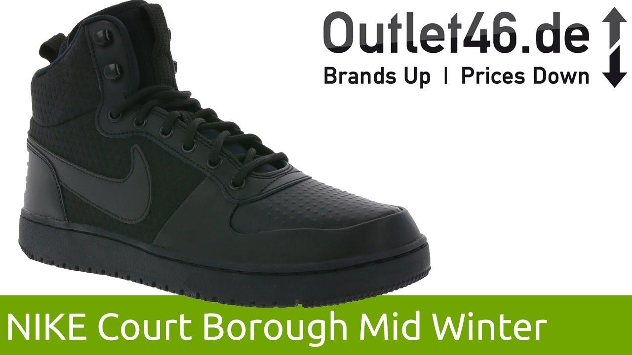 online retailer f491a a5205 NIKE Court Borough Mid Winter l Der Wintersneaker l 360° Video l Outlet46.de