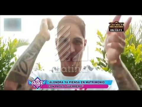 Alondra piensa en su futuro y habla de matrimonio con Paolo Guerrero
