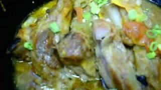 Solar Cooked Filipino Pork Baby Back Ribs Guisantes
