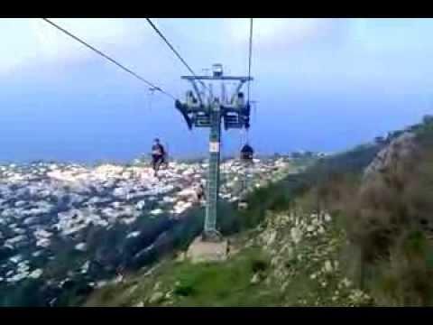 anacapri capri italy seggiovia chairlift to mount solaro