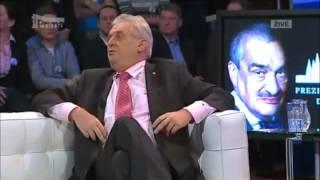 Benešovy dekrety 2 debaty Miloš Zeman vs  Karel Schwarzenberg