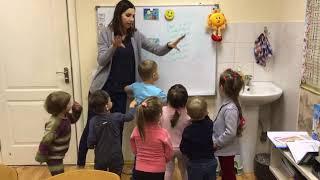 Фрагмент урока английского языка с малышами 3,5-5 лет