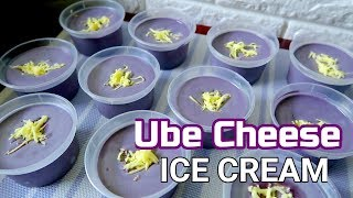 Ube Cheese Ice Cream | Ube Ice Cream Recipe