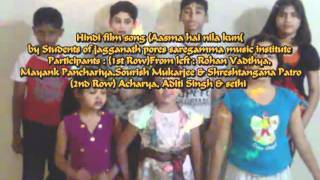 "Hindi film song ""Aasma hai nila kun ""by Students of saregamma music institute.mp4"