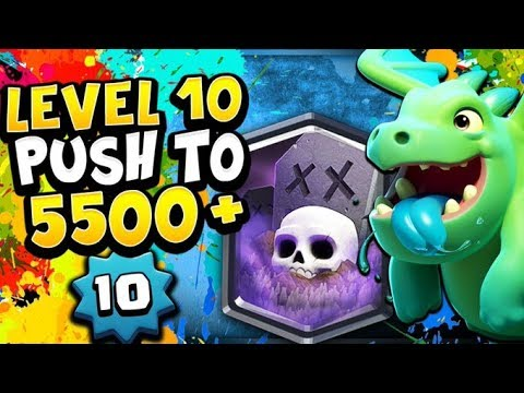 LEVEL 10 5500+ LADDER! BEATING MAXED OUT LEVEL 13s! - CLASH ROYALE