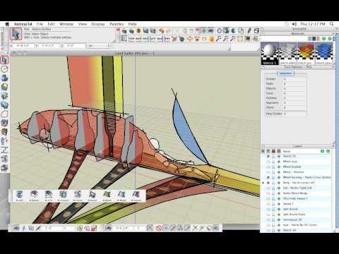 bonzai3d - Designing a sleek aerodynamic land sailer