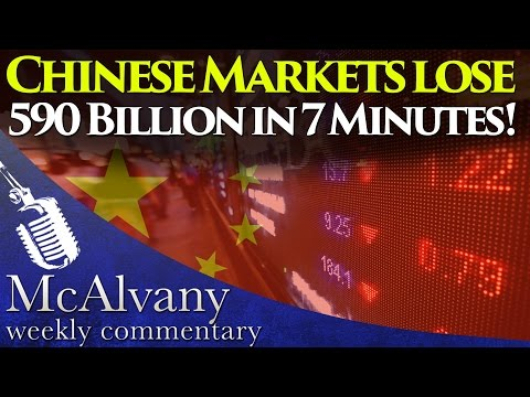 Chinese Markets lose 590 Billion in 7 Minutes! | McAlvany Commentary 2016