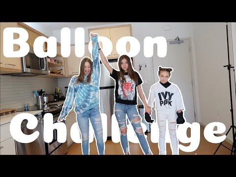 Balloon Challenge With Piper Rockelle   Riley Lewis