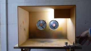 Camara de pintura caseira e aerógrafo