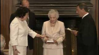 Swearing in Justice Sonia Sotomayor