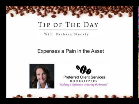 Business Tip of The Day #34 -  Expenses a Pain in The ASSet