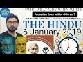 6 JANUARY 2019 The HINDU NEWSPAPER ANALYSIS TODAY in Hindi (हिंदी में) - News Current Affairs  IQ