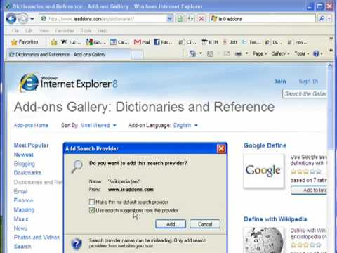 Doing More With Add Ons In Internet Explorer 8