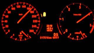 BMW 318d E90 0-200 km/h acceleration Beschleunigung
