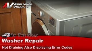 whirlpool maytag washer repair not draining and displaying error codes mhwe251yl00