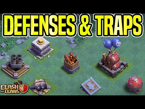 NIGHT VILLAGE DEFENSES AND TRAPS | PvP GAMEPLAY | UPDATE | Clash Of Clans