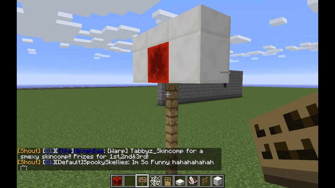 How to build a basketball hoop in minecraft youtube for How to build a basketball goal