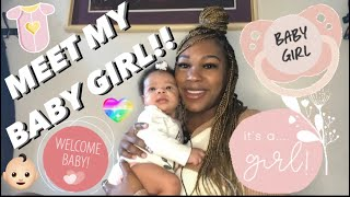 BABY REVEAL!!! MEET MY BABY GIRL!! SHE'S HERE!!