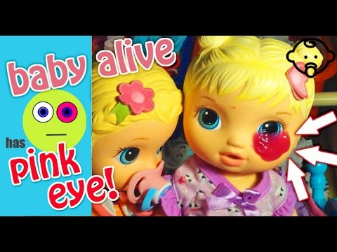 😩Baby Alive Kitty has PINK EYE! It's so itchy and she needs eye drops quick! 🌼 Isla's Toy World