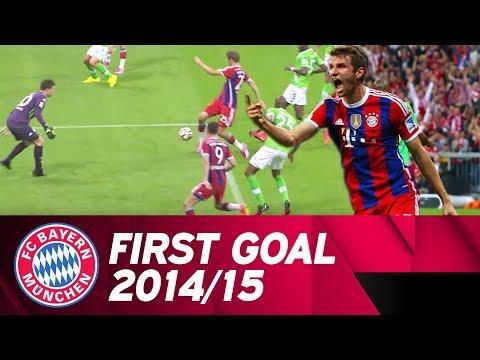 The first Bundesliga goal of 2014/15: Thomas Müller scores against Wolfsburg! ⚽