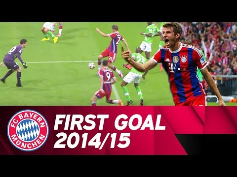 The first Bundesliga goal of 2014/15: Thomas Müller scores against Wolfsburg! ⚽
