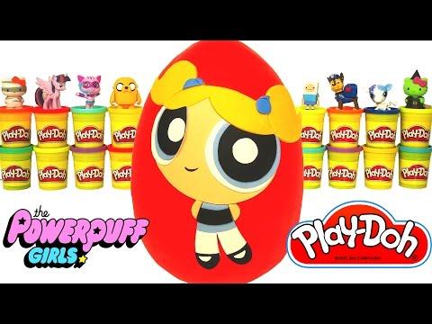 Huevo Sorpresa Gigante de Las Chicas Superpoderosas en Español de Plastilina Play Doh