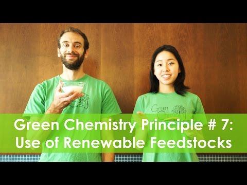 Use of Renewable Feedstocks - Green Chemistry Principle #7