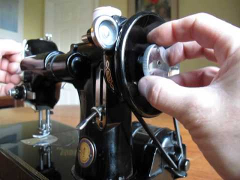 Convert Singer portable electric sewing machine to hand crank
